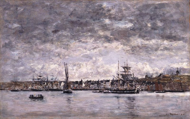 Eugene Boudin, Le Port at Camaret, 1872