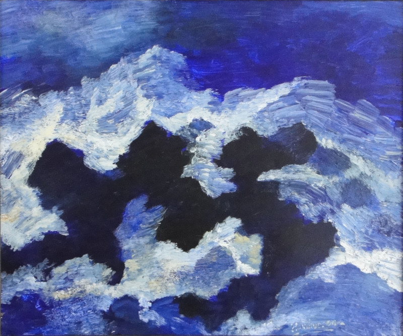 Albert Houthuesen, Stormy Sea, Jagged Rocks, 1973