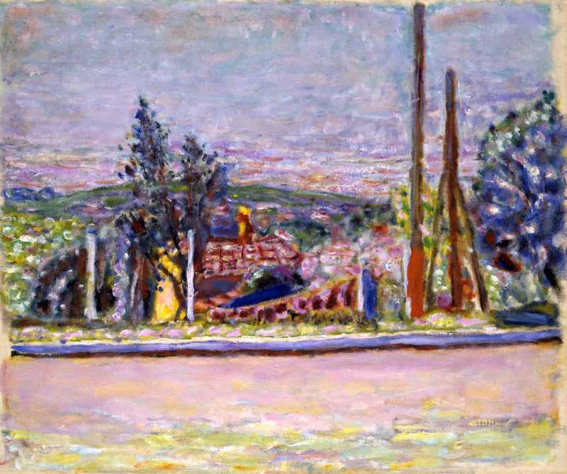 Pierre Bonnard, L'Avenue Victoria (Seen from the Artist's Garden), c.1943