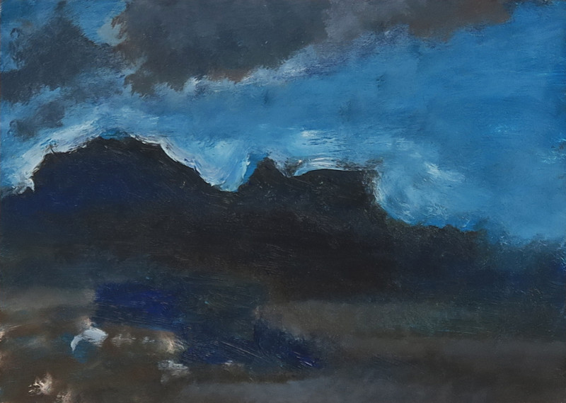Albert Houthuesen, Mountain Seascape, Stormy Sky, 1967