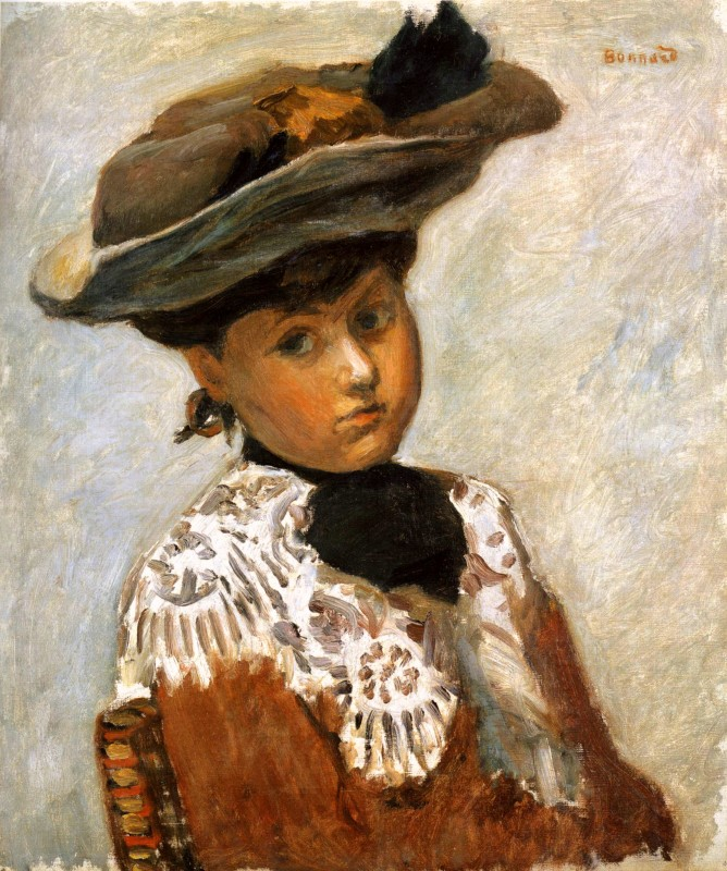 Pierre Bonnard, Portrait of a Young Woman in a Hat, c.1905