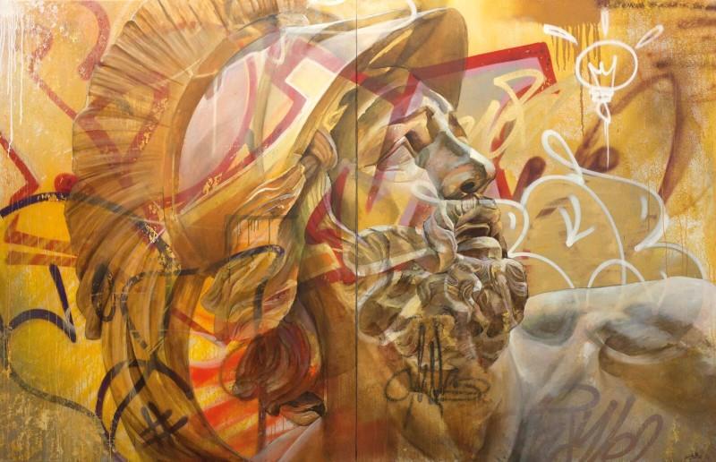 PichiAvo, Untitled (Urban Warrior)