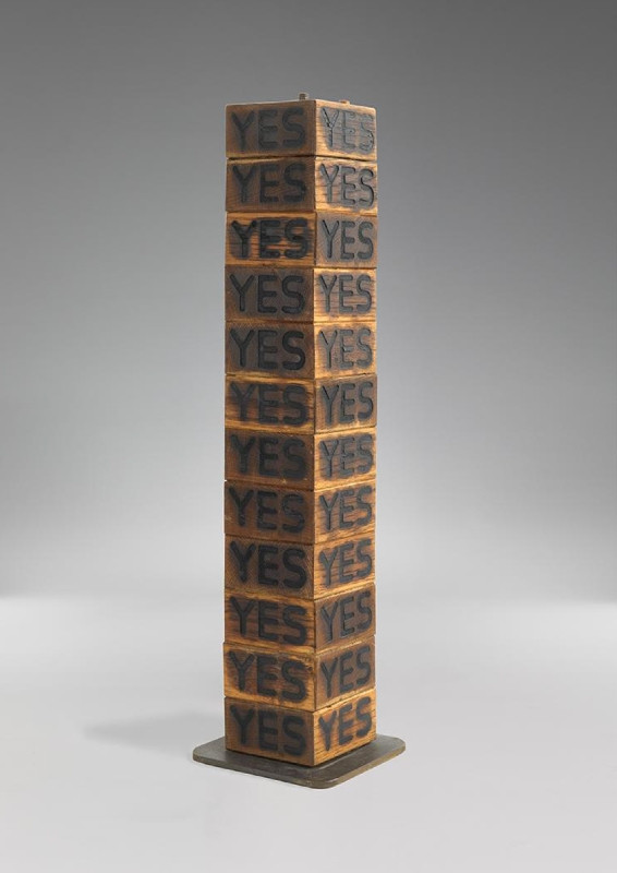 Joe Tilson, RA, Stele for James Joyce, 1972