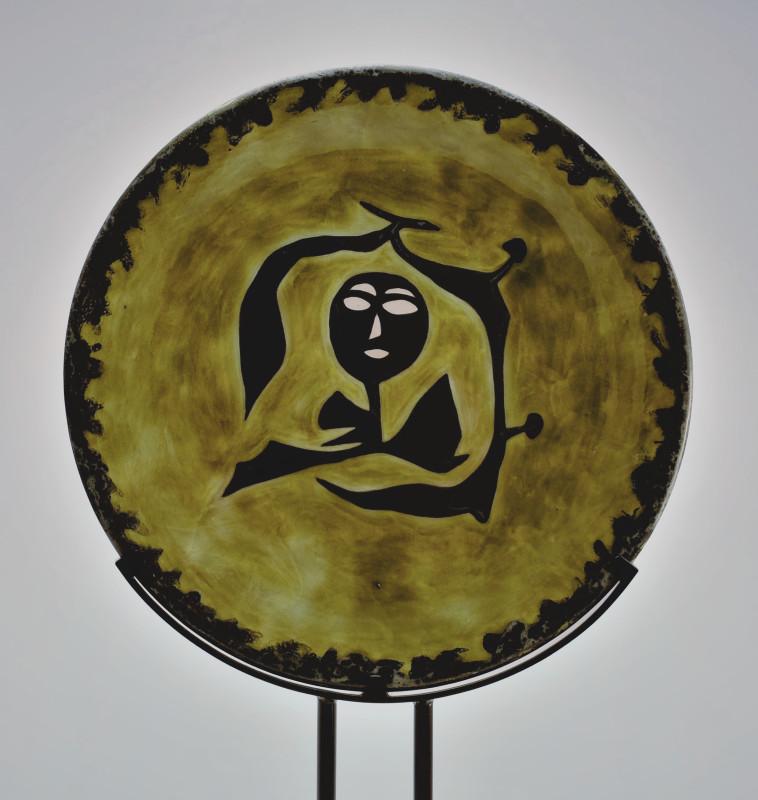 Jean Lurçat, Plate - Green & Black - Dryad, c. 1955