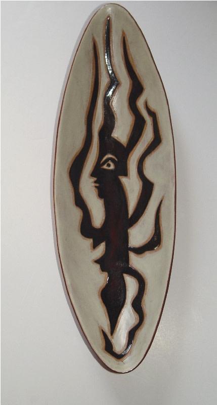 Jean Lurçat, Plate - Oblong - White - Medusa, c. 1955
