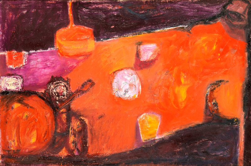 Douglas Swan, Orange Figure, Still Life and Purple Shadows, 1957