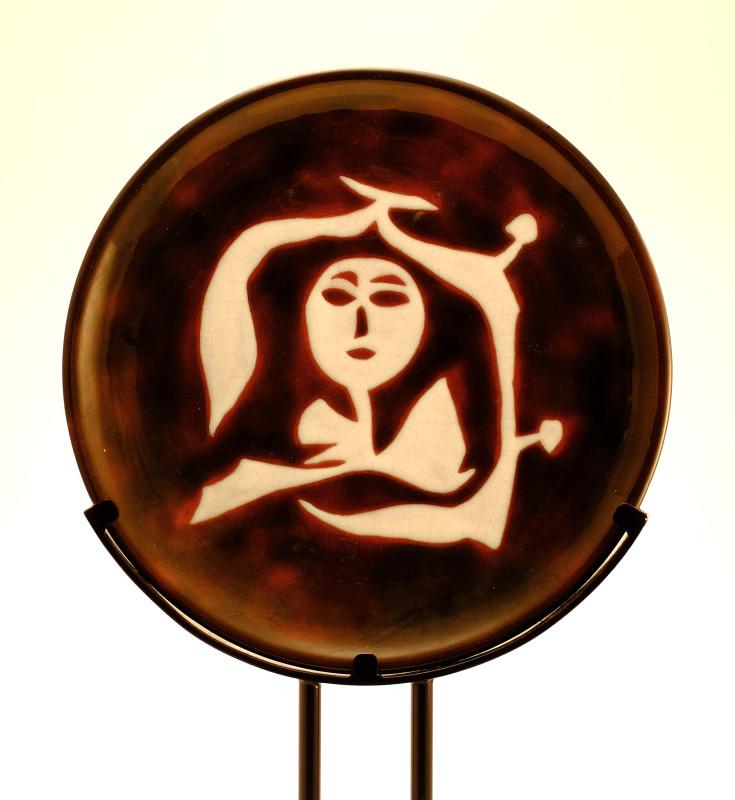 Jean Lurçat, Plate - Brown - Dryad, c. 1955