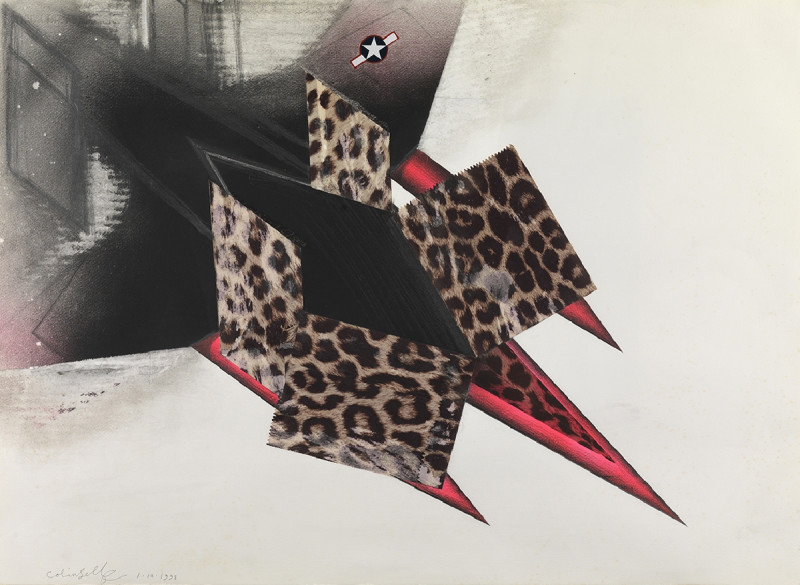 Colin Self, Study for a Leopardskin Nuclear Bomber, 1998