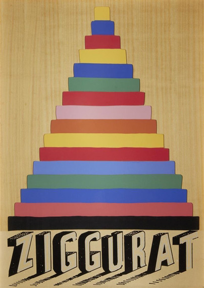 Joe Tilson, RA, Ziggurat, 1975