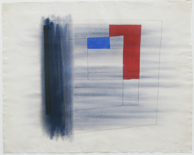 Alastair Morton, Composition in Grey, Red and Blue, 1946