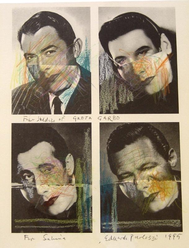 Sir Eduardo Paolozzi, RA, Four Studies of Greta Garbo, 1995