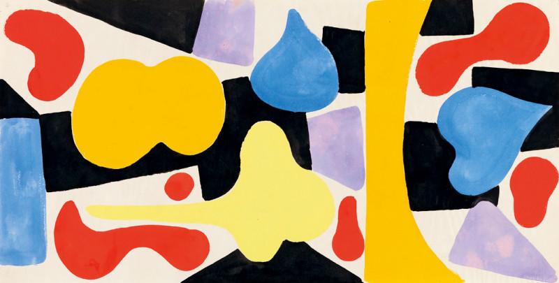 Caziel, WC593 - Composition, c. 1950
