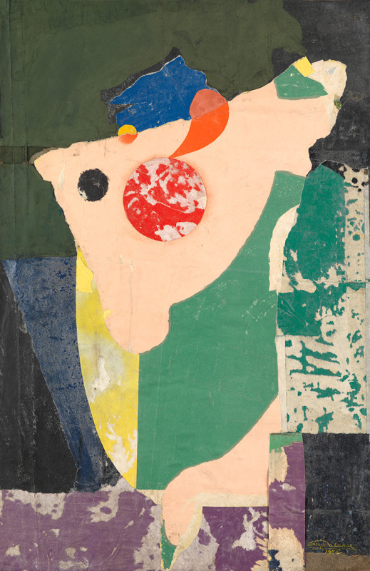 Joseph Lacasse, Collage / Déchirage (Dia no. 655), 1956