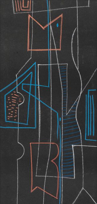 Caziel, WC702 - Geometric Composition, c. 1952
