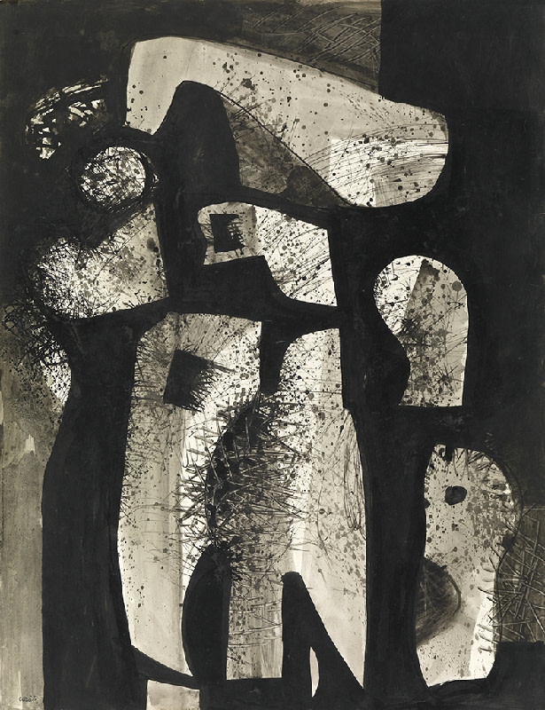 Caziel, WC721 - Forms in Space, c. 1951