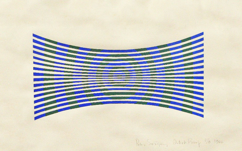 Peter Sedgley, Blue and Green Modulation, 1964