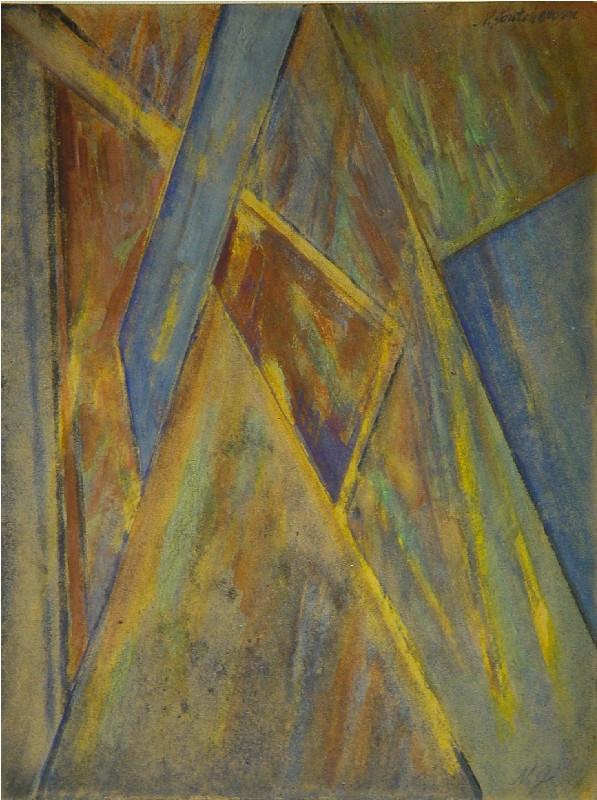 Natalia Goncharova, Rayonnist Composition, 1912