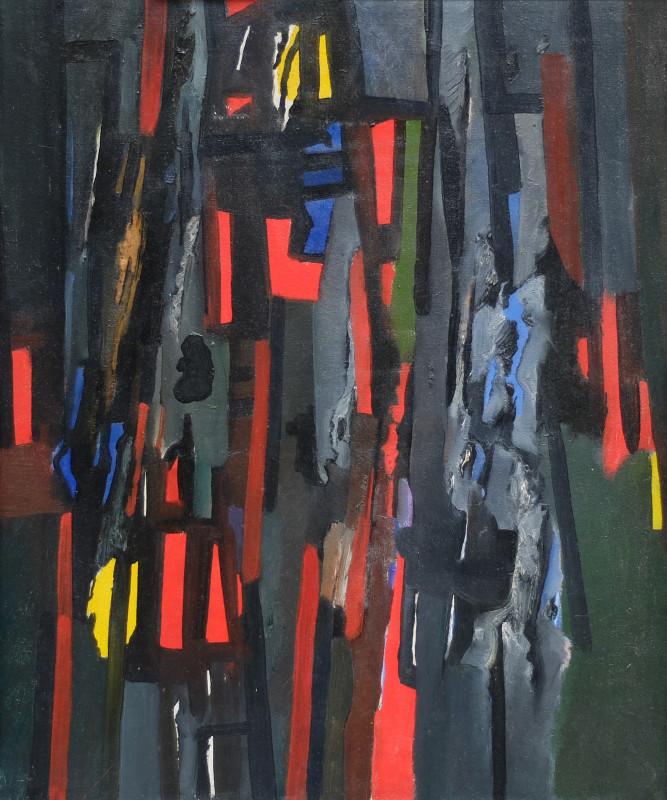 Caziel, WC480 - Composition ' Rhythme Lacere', 1963