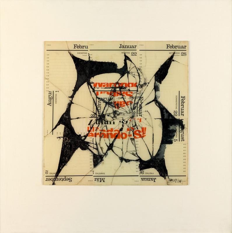 Reinhold Koehler, Figur Ondo, Contre-Collage, 1968