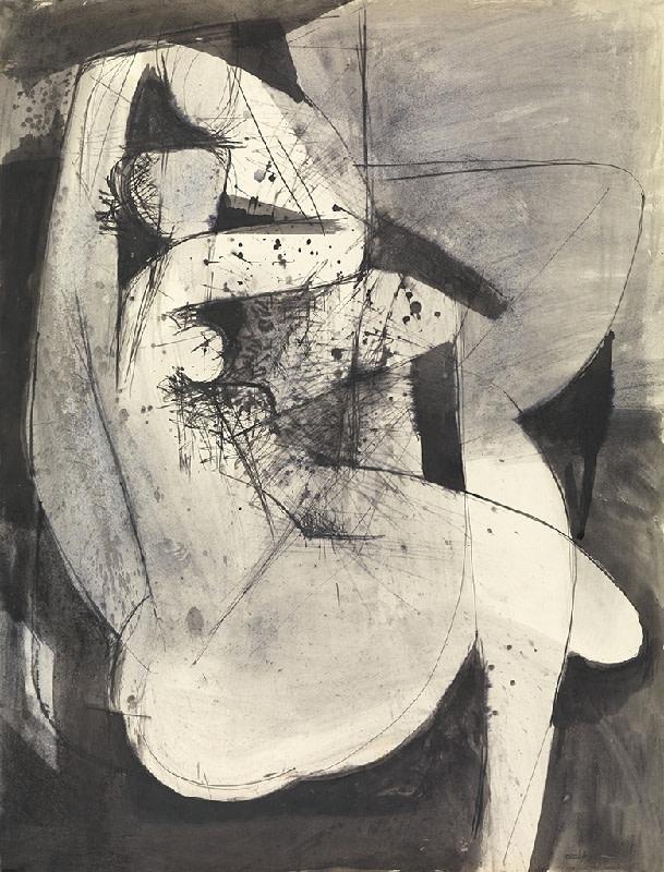 Caziel, WC714 - Odalisque, c. 1952