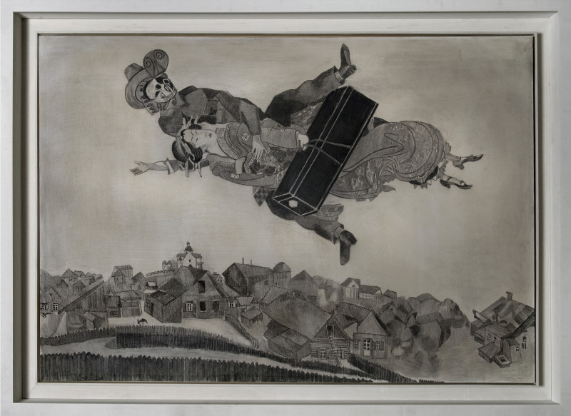 Wolfe von Lenkiewicz, Over the Town (Drawing), 2009