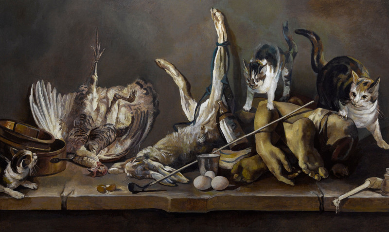Wolfe von Lenkiewicz, Still Life (Truncated Limbs And Cats), 2013