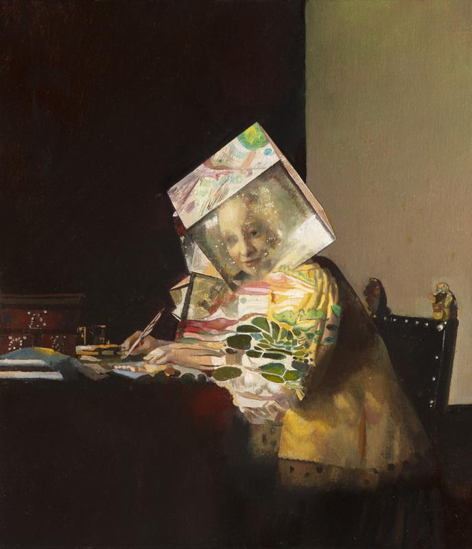 Wolfe von Lenkiewicz, Lady Writing a Letter, 2018