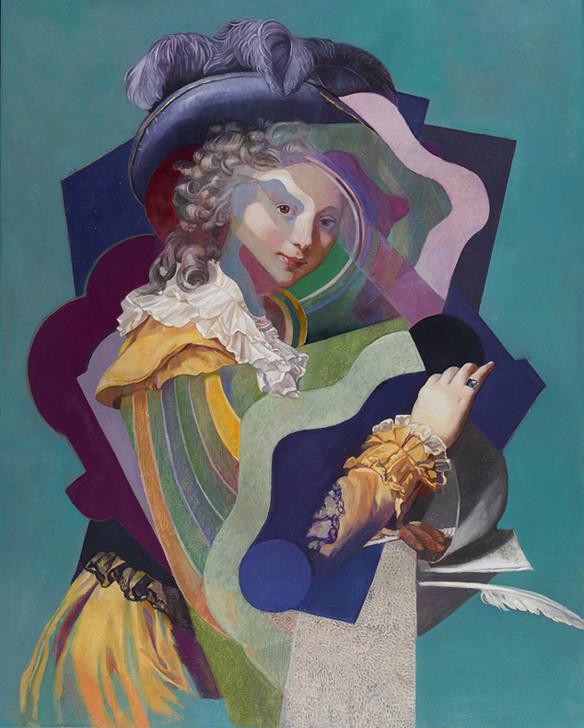 Wolfe von Lenkiewicz, Woman Opening a Letter, 2017