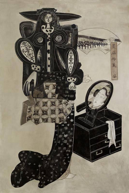 Wolfe von Lenkiewicz, Girl before a Mirror, 2015