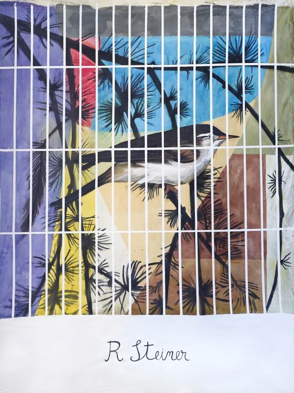 Rudolph Steiner in a cage, 2014