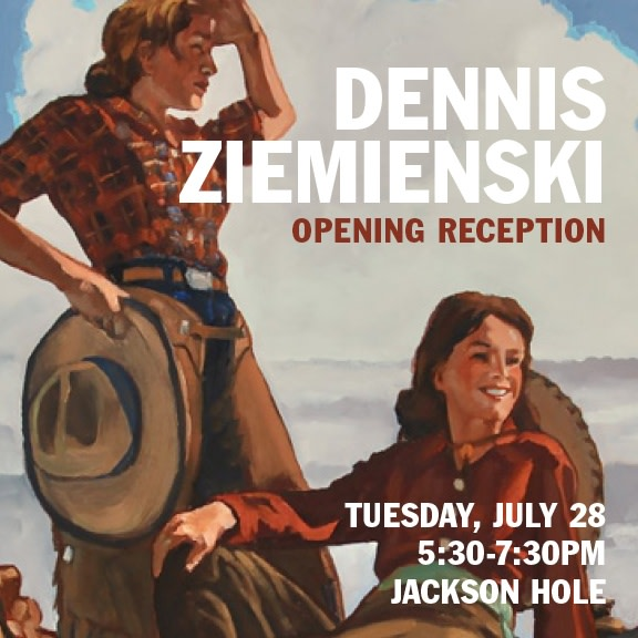 Dennis Ziemienski Opening Reception, Wyoming Postcard
