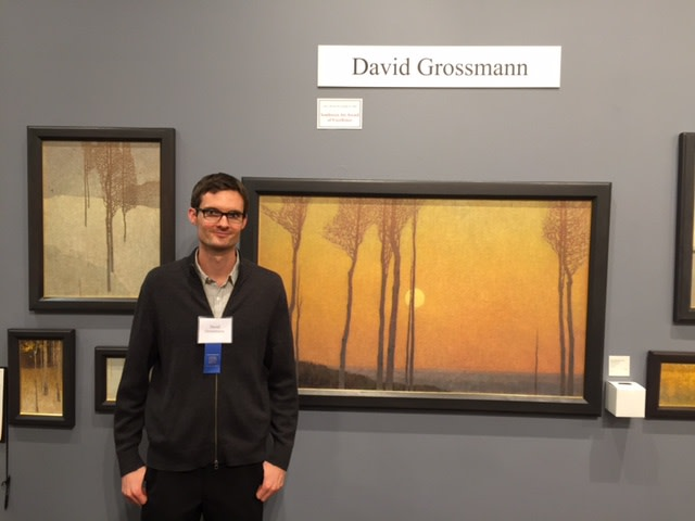 David Grossmann with his award winning work at the 2016 Coors Show