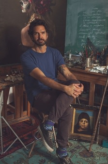 Brad Overton in his studio
