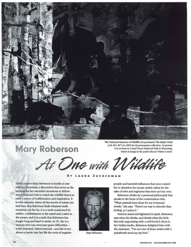 At One with Wildlife: Mary Roberson