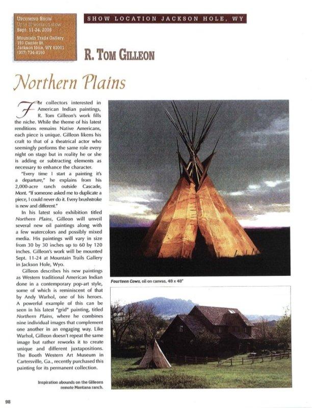 Northern Plains: R. Tom Gilleon