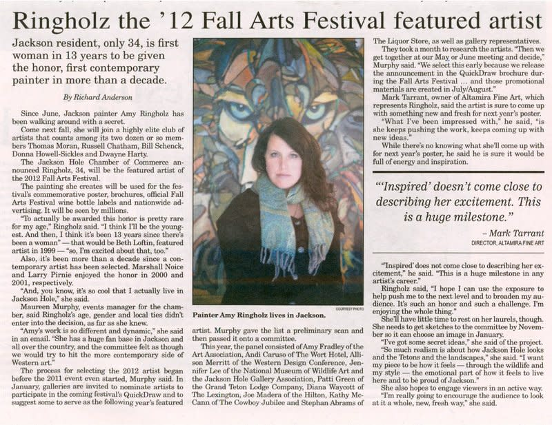 RINGHOLZ THE '12 FALL ARTS FESTIVAL FEATURED ARTIST