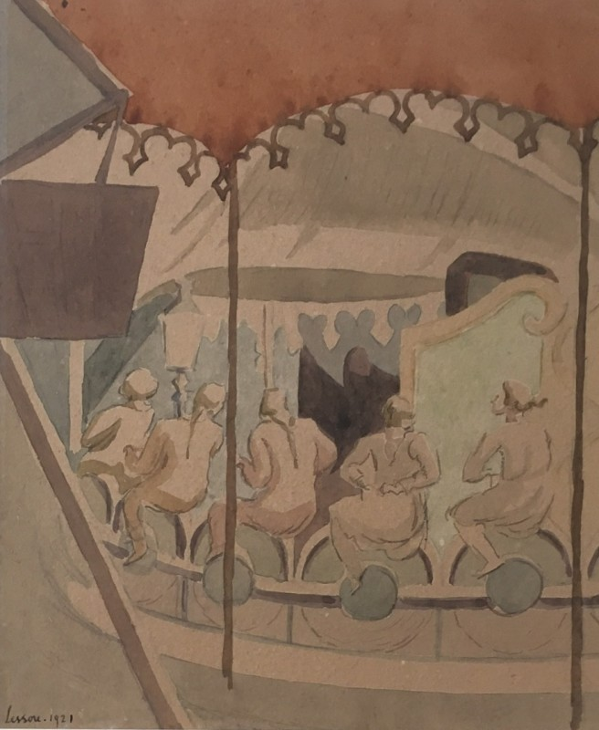 THÉRÈSE LESSORE (1884–1945)  MERRY-GO-ROUND  SOLD