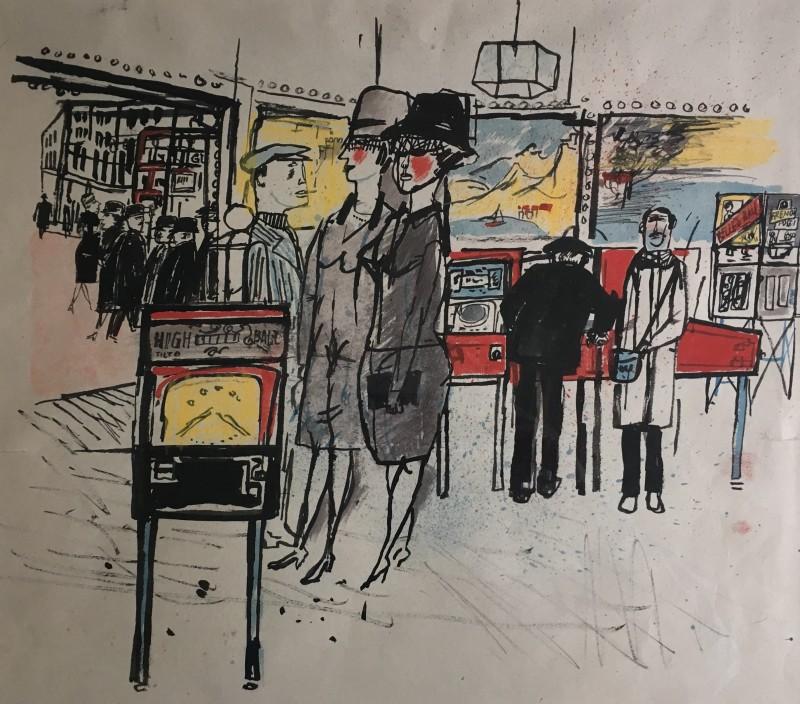 JAMES BOSWELL (1906-1971)  SOHO, c. 1950
