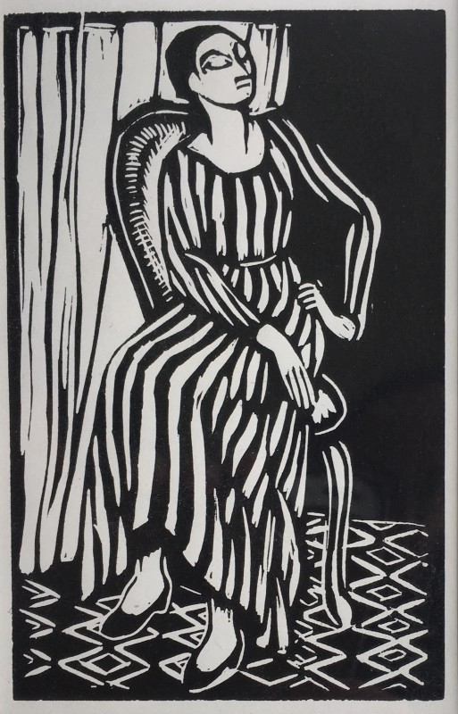 ROGER FRY (1882-1940)  THE STRIPED DRESS, 1921