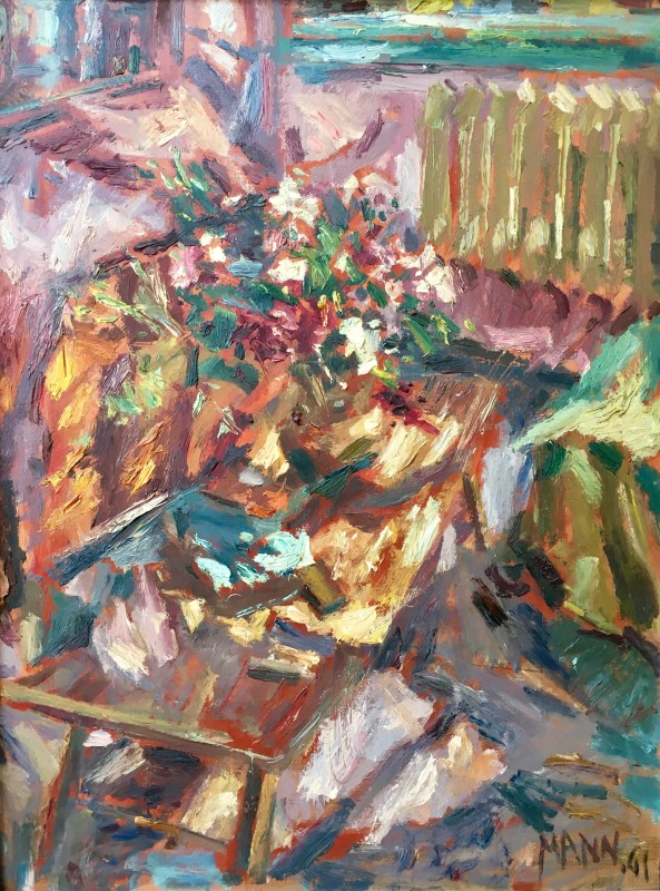 CYRIL MANN (1911-1980)  INTERIOR WITH FLOWERS