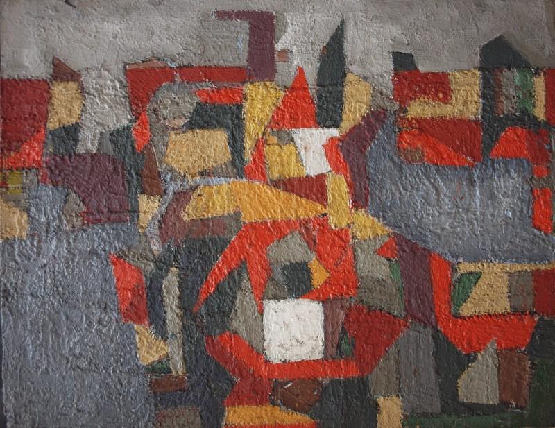 JEAN BESNARD (1922-2007)  ROOF TOPS, 1955