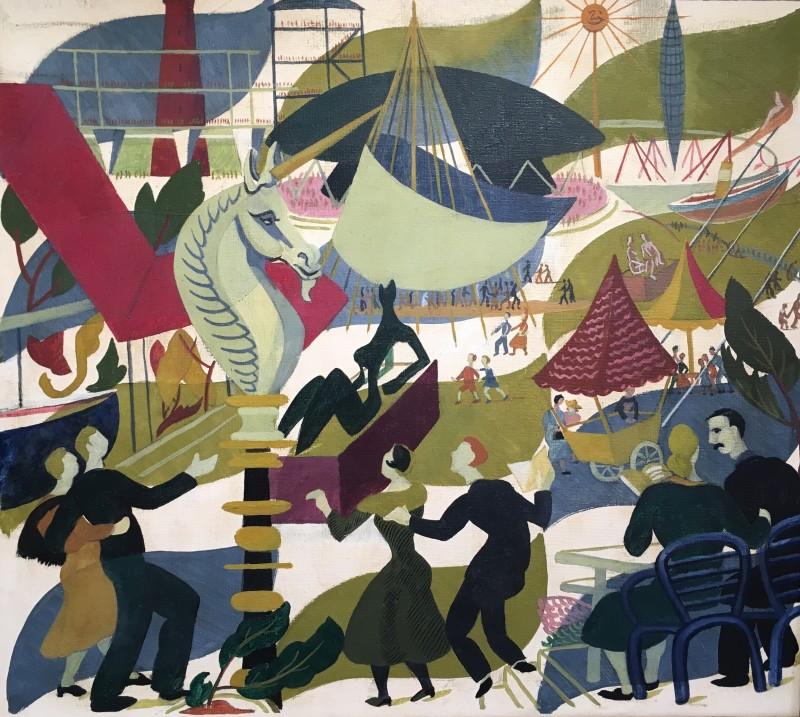 DORIS HATT (1890-1969)  THE FESTIVAL OF BRITAIN, 1951  SOLD