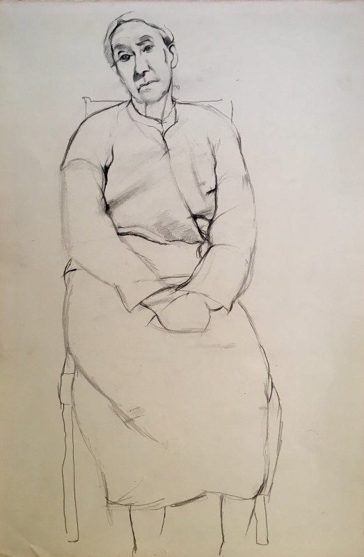 DOROTHY HEPWORTH (1898-1978)  MRS BARNES OF COOKHAM, c. 1925  SOLD