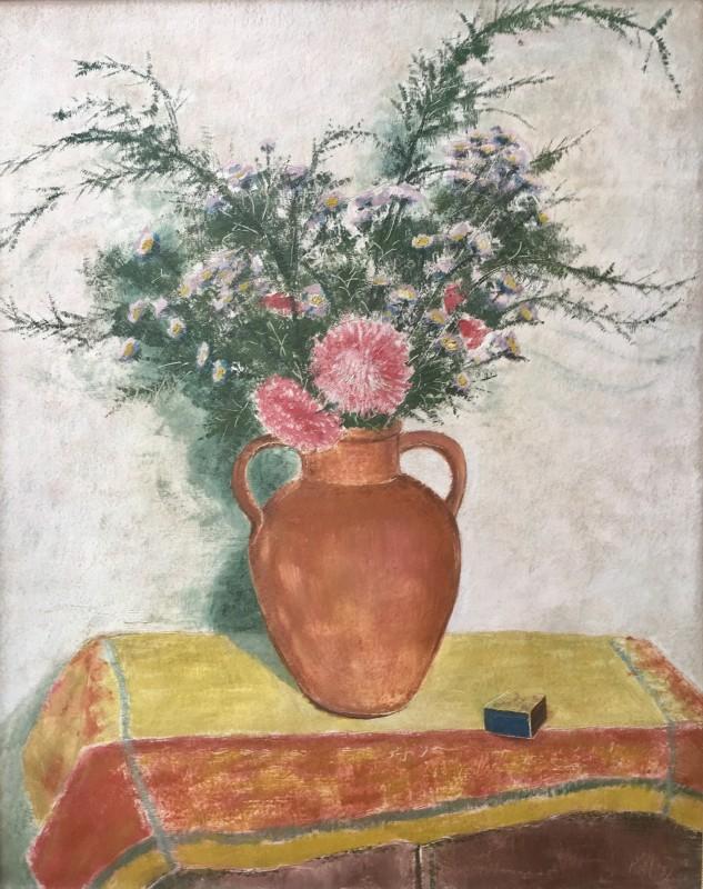 EDMOND XAVIER KAPP (1890-1978)  ASTERS AND MICHAELMAS DAISIES, 1937
