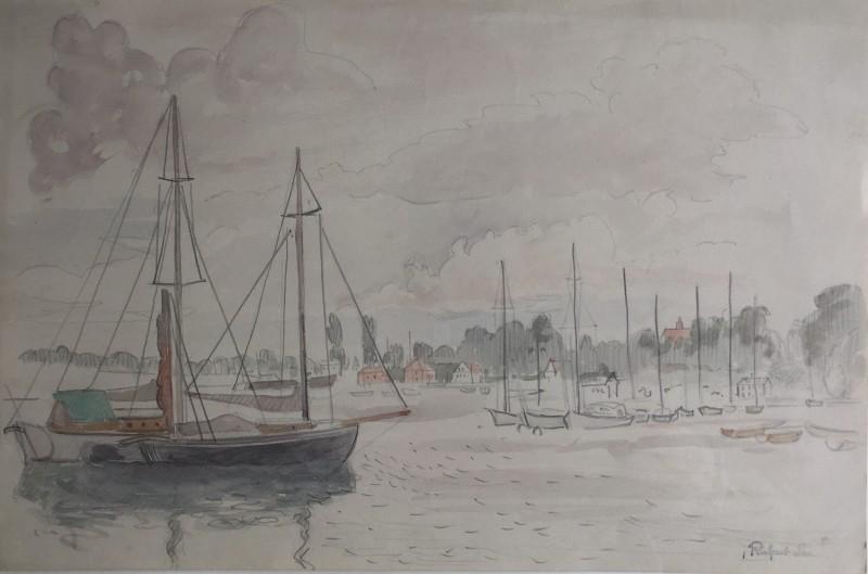 RUPERT LEE (1887-1959)  HARBOUR SCENE, c. 1920's