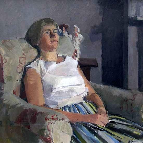 DICK LEE (1923-2001)  PORTRAIT OF RUTH, 1960