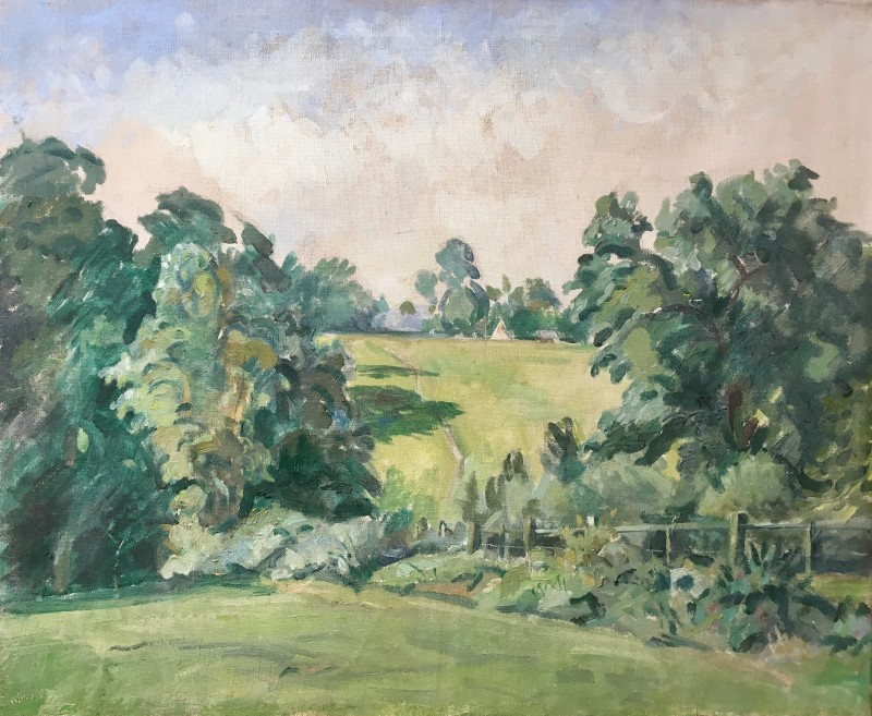 RUPERT LEE (1887-1959)  'SUSSEX LANDSCAPE' c. 1930's