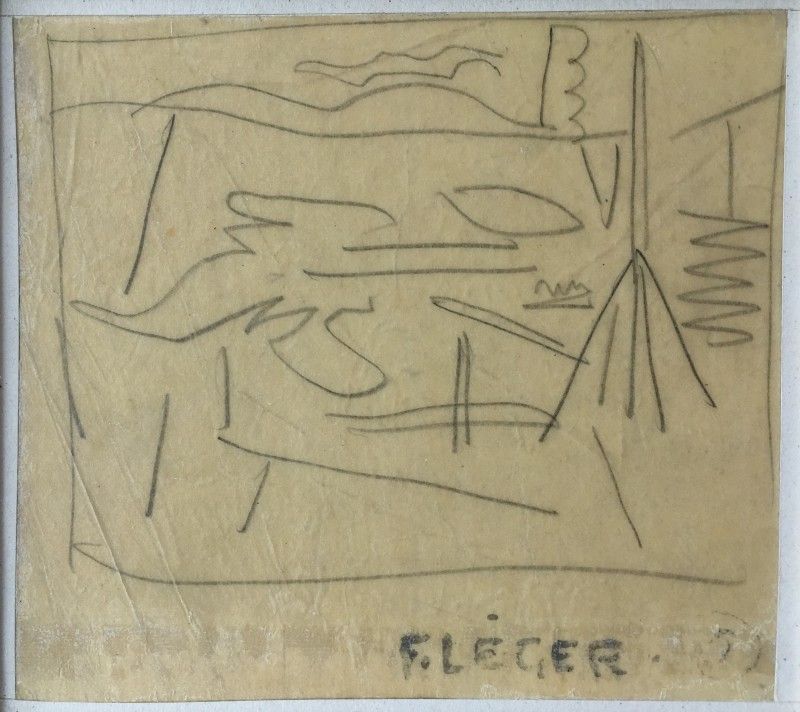 FERNAND LÉGER (1881-1955)  BURSTING SHELLS AT THE FRONT, 1915