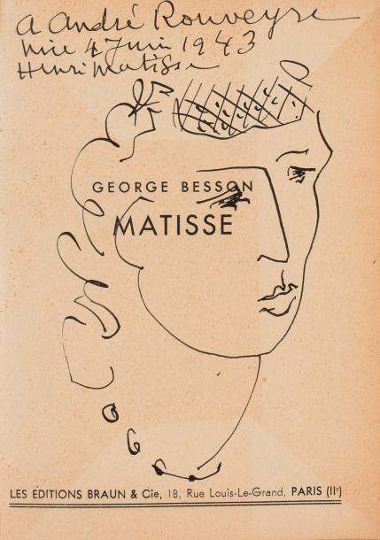 HENRI MATISSE (1869-1954)  TÊTE DE FEMME, 1943
