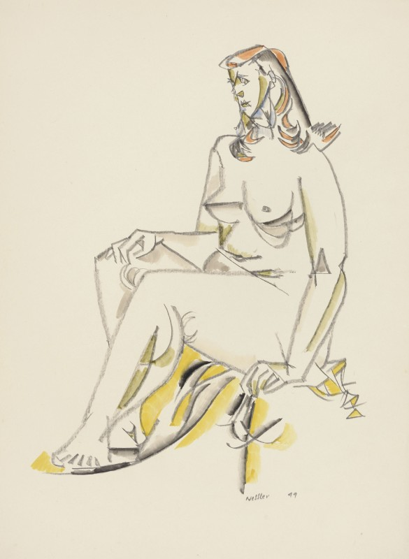 WALTER NESSLER (1912-2001)  SEATED NUDE, 1949